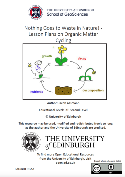 Nothing goes to waste in nature – lesson plans on organic matter recycling (University of Edinburgh)