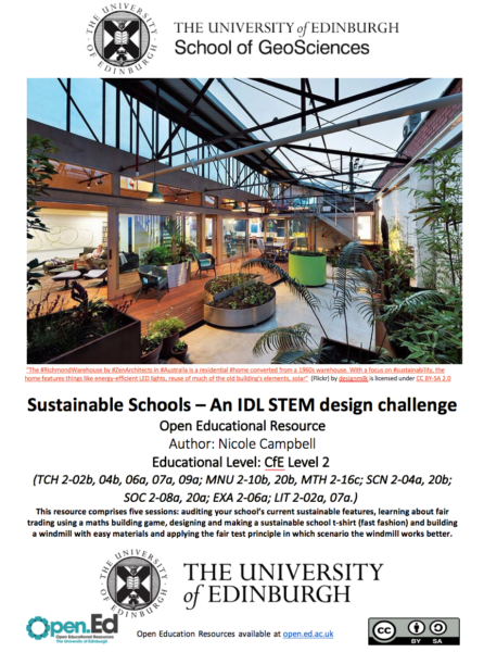 Sustainable Schools: an IDL STEM design challenge