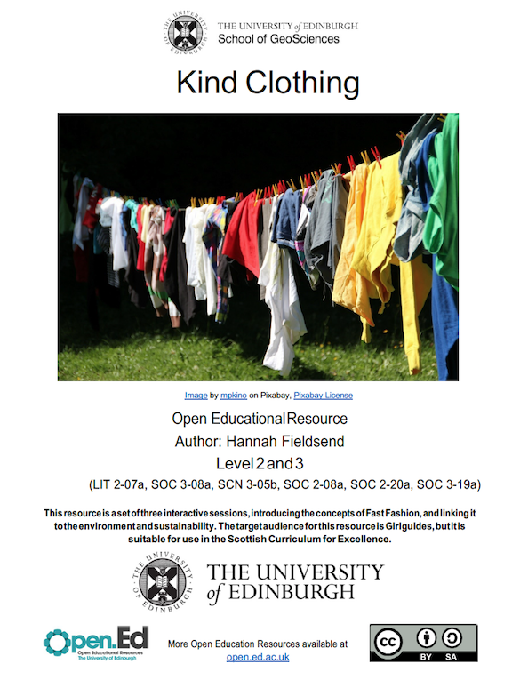 Kind Clothing – Sustainable Fashion (University of Edinburgh – open.ed)