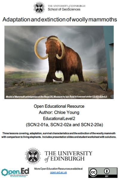 Adaptation and Extinction of Woolly Mammoths (University of Edinburgh – open.ed)
