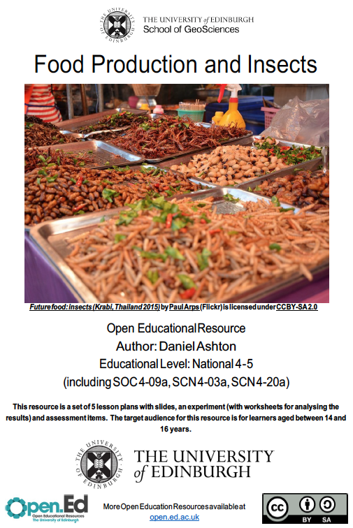 Food Production and Insects (University of Edinburgh – Open.ed)